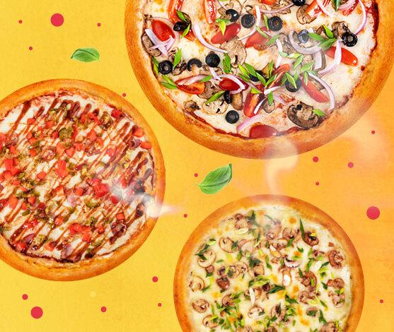 3 любые пиццы за 1099 р